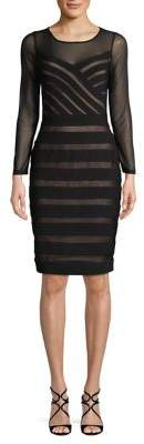 Adrianna Papell Mesh Illusion Matte Jersey Dress