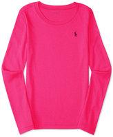 Ralph Lauren Embroidered Long-Sleeve Shirt, Toddler & Little Girls (2T-6X)