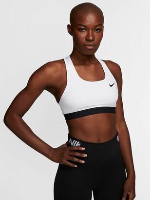 Nike Training Swoosh Band Sports Bra - White