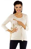 Zeta Ville Fashion Zeta Ville - Womens Maternity Bolero Nursing Shirt Top Tee - Sizes S-4XL - 619c