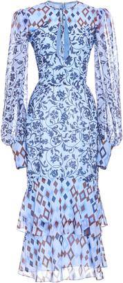 J. Mendel Printed Silk Dress