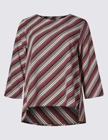 Marks and Spencer Striped 3/4 Sleeve Shell Top