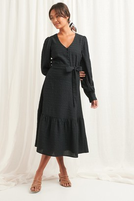 NA-KD Structured Tie Waist Dress