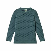 FUB Jade and Navy Spot Sweater