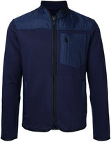 Kent & Curwen contrast panel zip cardigan - men - Nylon/Polyester - S