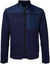 Kent & Curwen contrast panel zip cardigan