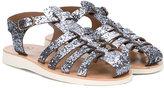 Pépé glitter sandals - kids - Leather/Polyurethane/rubber - 24