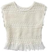 Gap Crochet tassel sweater