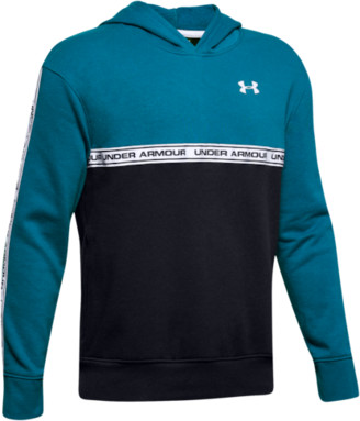Under Armour Sportstyle Fleece Hoodie Sweatshirt - Teal Vibe / Black White