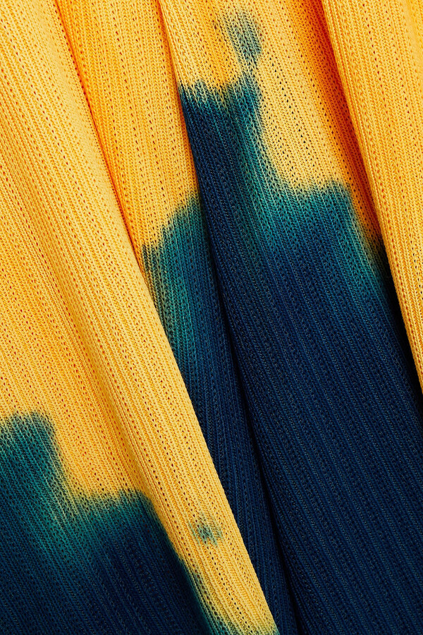 Thumbnail for your product : Proenza Schouler Knotted Tie-dyed Ribbed-knit Midi Dress