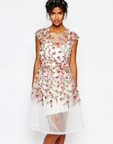 Body Frock Wedding Embroidered Rose Dress