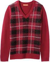 Joe Fresh Women's Plaid Front Sweater, Navy (Size M)