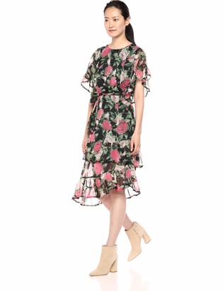 Vero Moda Women's Lili Chiffon Floral Midi Dress