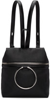 Kara Ssense Exclusive Black Small Ring Leather Backpack