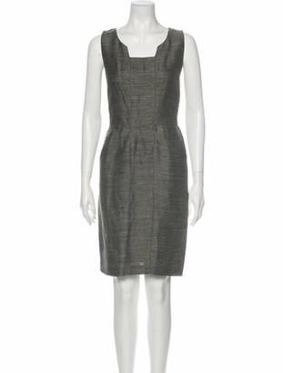 Oscar de la Renta 2008 Knee-Length Dress Grey