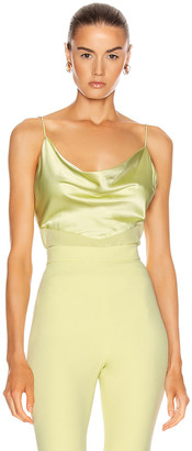 Cushnie Fitted Tank Top in Celery | FWRD