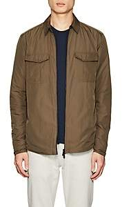 Barneys New York MEN'S FOUR-POCKET TECH-FABRIC JACKET-OLIVE SIZE M