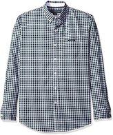 U.S. Polo Assn. Men's Long Sleeve Dobby Check Button Down Sport Shirt