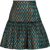 Dolce & Gabbana Metallic Jacquard Mini Skirt - Blue