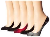 Steve Madden 5-Pack Tie-Dye Mesh Footie Women's Crew Cut Socks Shoes