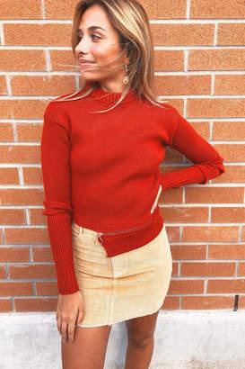 For Love & Lemons Knitz Annie Zipper Sweater