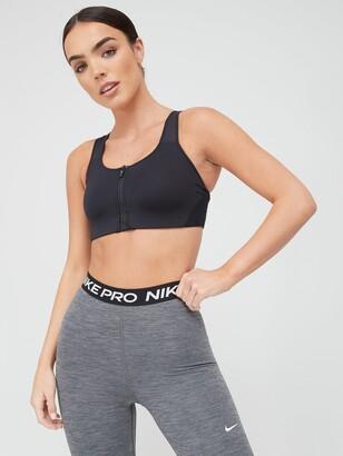 Nike High Support Zip Sports Bra - Black