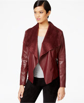 Bar III Flyaway Faux-Leather Jacket, Only at Macy's