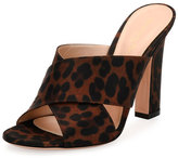 Gianvito Rossi Sahara Satin Crisscross Slide Pump, Texas