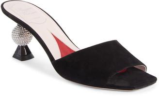 Roger Vivier Marlene Strass Slide Sandal