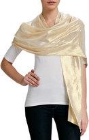 Ilana Wolf Metallic Silk Stole, Gold
