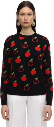 Gucci Gg & Apple Wool Intarsia Knit Sweater