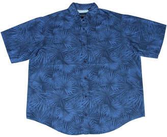 Px Palm Leaf Print Short Sleeve Woven Buttondown Shirt