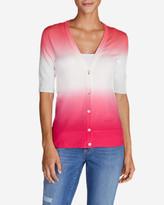 Eddie Bauer Women's Christine Dip-Dye V-Neck Cardigan Sweater