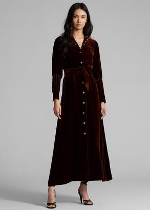 Ralph Lauren Studded Velvet Shirtdress
