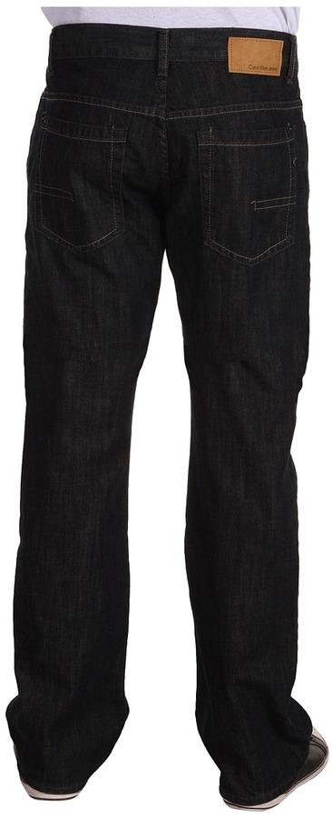 Calvin Klein Jeans Deep Centre Blue Lightweight Bootcut Jean in Medium/Dark Wash (Medium/Dark Wash) - Apparel