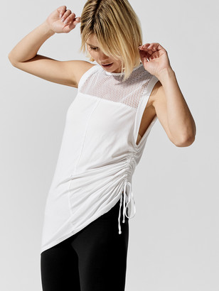 Blanc Noir Tao Side Ruched Muscle Tunic
