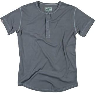 &Sons Trading Co The Original Elder Henley Short Sleeve Shirt Grey