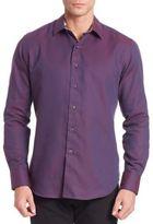 Robert Graham Solid Cotton Shirt