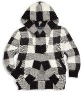 Ralph Lauren Girl's Hooded Buffalo Check Cardigan