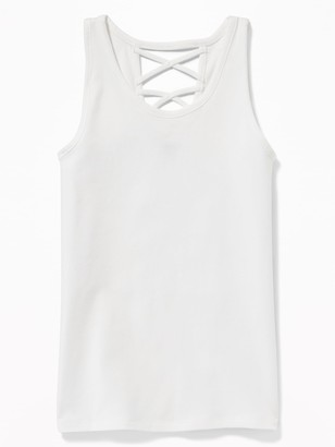Old Navy Strappy Cross-Back Jersey Tank for Girls