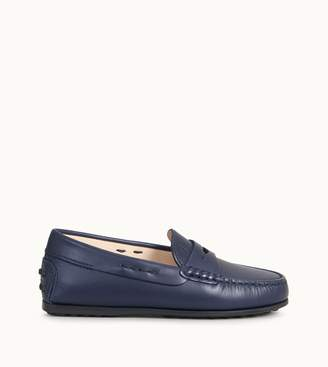 Tod's Tods Junior City Gommino Loafers in Leather