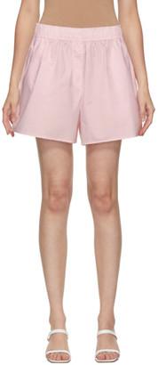 Ganni Pink Cotton Elasticized Shorts