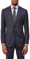Jaeger Wool Birdseye Regular Fit Suit Jacket, Navy