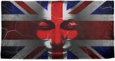 Old Glory Guy Fawkes Day Union Jack Distressed British Flag Mask All Over Beach Towel Multi Standard One