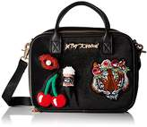 Betsey Johnson Velvet with Appliques Lunch Tote