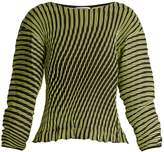 Issey Miyake Plasma 1 waved stripe-pleated top