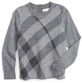 Burberry Infant Girl's Check Wool Sweater