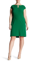 Tahari Keyhole Sheath Dress (Plus Size)