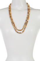 Natasha Accessories Long Layered Wooden Beaded Strand Necklace