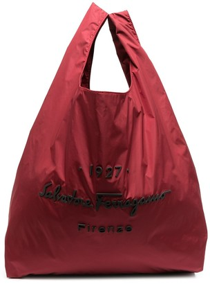 Salvatore Ferragamo Logo-Embossed Tote Bag